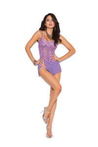 Purple Lace Babydoll