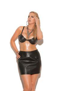Leather Underwire Bra - Plus Size